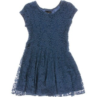 Aqua Girls Lace Casual Dress - XL