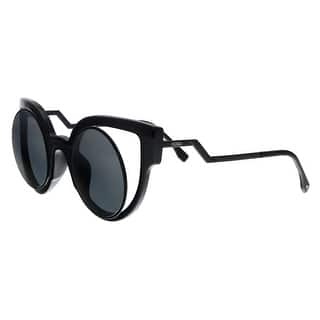 25b3bab6f8952 FENDI 0137 S CN 0NT2 Black Cat Eye Sunglasses - 49-28-140