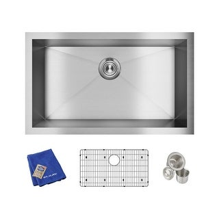 "Elkay EFU281610TC  Crosstown 30-1/2"" Undermount Single Basin Stainless Steel Kitchen Sink with Sound Dampening - Stainless Steel"