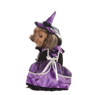 Pet Purple Witch Dog Halloween Costume