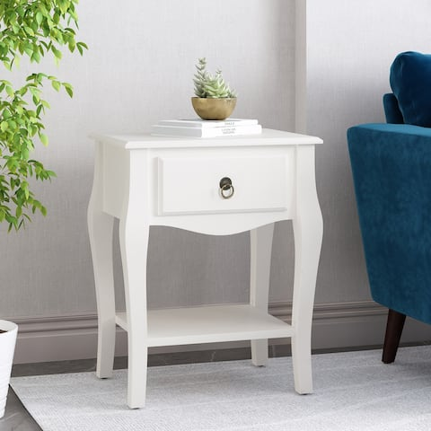 Bogue Traditional Wooden Side Table with Drawer by Christopher Knight Home