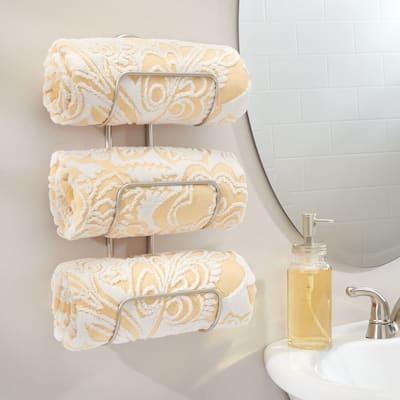 mDesign Bathroom Wall Mount Towel Rack - 5.3 X 6.5