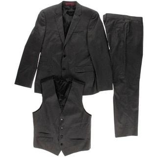Hugo Hugo Boss Mens Awart/Wiran/Hamen2 Wool 3PC Two-Button Suit - 38s