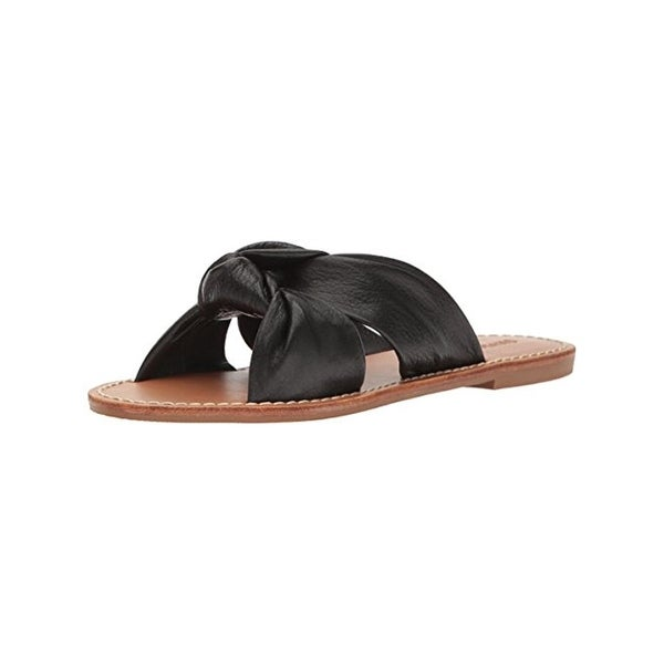 Soludos Womens Slide Sandals Leather Open Toe