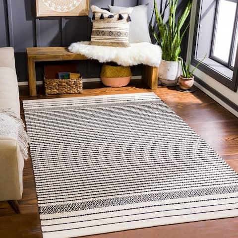 Calimesa Handmade Striped Cotton Area Rug