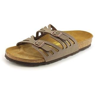 Birkenstock Granada Women N/S Open Toe Leather Tan Slides Sandal