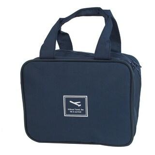 Unique Bargains Outdoor Travel Toiletry Toiletries Cosmetic Makeup Beauty Wash Bag Handbag Dark Blue