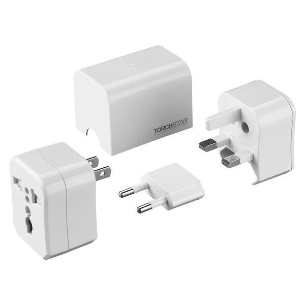 Detachable All-In-One Universal Travel Adapter, Fit In USA/EU/UK/AUS Worldwide