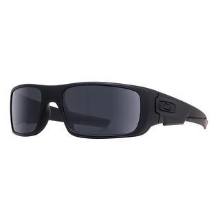 Oakley Crankshaft Covert OO9239-12 60mm Matte Black Grey Men's Wrap Sunglasses - MATTE BLACK - 60mm-19mm-132mm