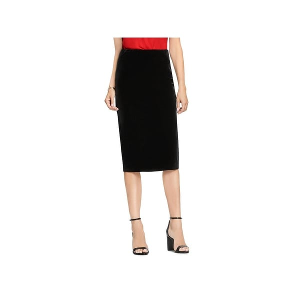 7e6aaf6257db10 Shop Vince Camuto Womens Pencil Skirt Velvet Midi - Free Shipping On ...