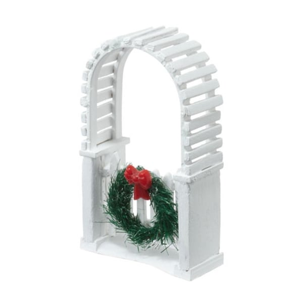 "Department 56 Snow Village ""Picket Lane Archway"" Accessory #4025468 - WHITE"