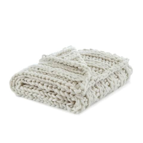 Haukea Channel Knit Throw