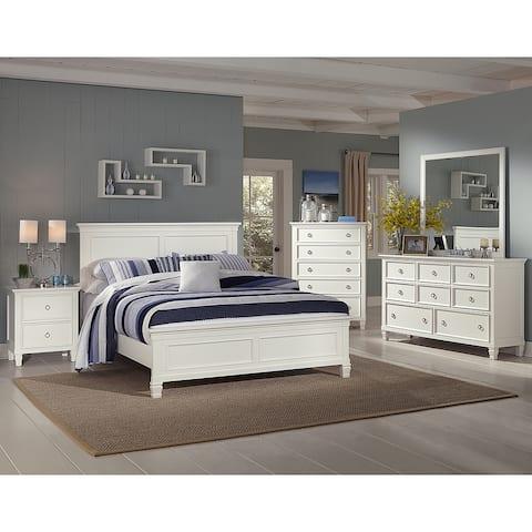 New Classic Tamarack Queen 5PC - Bed,Dresser,Mirror,Nightstand,Chest -White