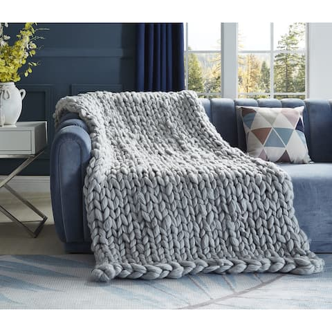 Emalia Chunky Knit Throw