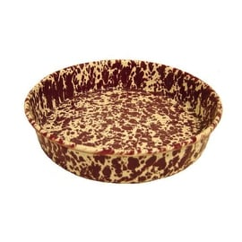"Crow Canyon D66BRM Round Cake Pan, 9"", Burgundy on Cream Marble"