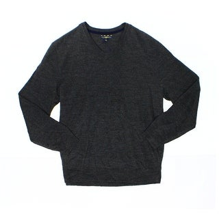 Club Room NEW Dark Gray Mens Size 3XL Ribbed Cashmere V-Neck Sweater