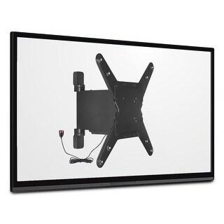 "Mount-It! Full Motion Motorized TV Wall Mount Bracket 32-55"" Flat Screen Displays 77 Lbs Capacity - MI-443 - black"