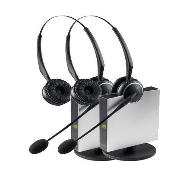 Jabra GN9125 Duo DECT 6 0 Technology Wireless Headset w/ Up To 450' Range  (2 Pack)