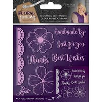 Sara Davies Signature Floral Fantasy Clear Stamps-Blooming Sentiments