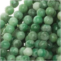 China Jade 4mm Round Beads Green / 15.5 Inch Strand