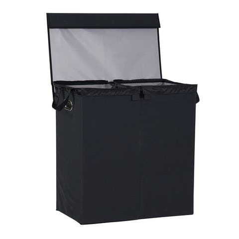 Household Essentials Black Collapsible Laundry Sorter