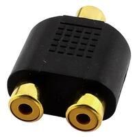 RCA Female to Dual RCA Female Jack Splitter Video Audio Adapter Plug Converter