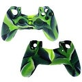 For Sony Play Station 4 PS4 Video Game Controller Camouflage Soft Silicon Case Gel Rubber Sleeve GREEN Cover - Thumbnail 4