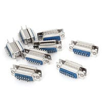 Unique Bargains DB15 15-Pin 2-Row Male to Female Plug Computer VGA Cable Connector Adapter 8 Pcs