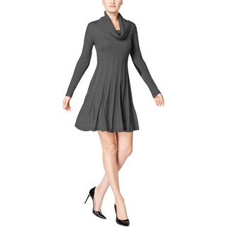 Calvin Klein Womens Petites Sweaterdress Cowl-Neck Long Sleeve