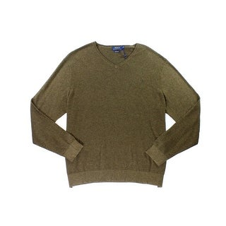 Polo Ralph Lauren NEW Brown Mens Size 2XL Chevron Print V-Neck Sweater