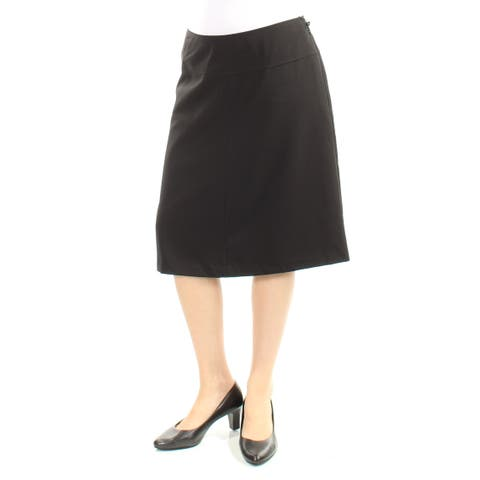 GUESS Womens Black Knee Length Pencil Wear To Work Skirt Size: Size 0 - Size 0