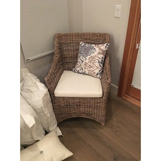 Safavieh Dining Rural Woven St Thomas Wicker Washed-out Brown Wing Back Arm Chair - N/A