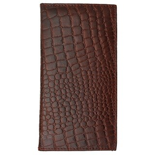 New High End Marshal Leather Checkbook Cover Case #156-CR - burgundy