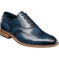 Stacy Adams Men's Dunbar Wingtip Oxford Indigo Leather