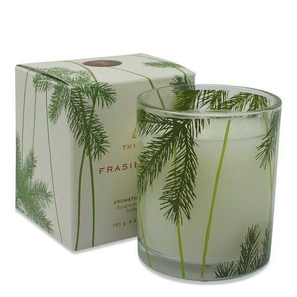 Thymes Frasier Fir Pine Needle Decorative Glass Jar Candle