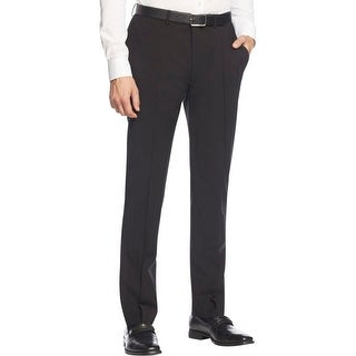 Calvin Klein Mens Dress Pants Wool Slim Fit