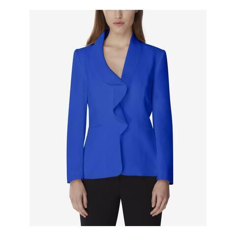 TAHARI Womens Blue Wear To Work Jacket Size 6