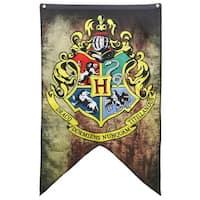 Hogwarts School Crest 30inx50in Banner from Harry Potter