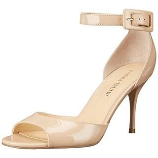 Ivanka Trump Womens Gladly 4 Patent Leather Open Toe Dress Sandals - 10 medium (b,m)