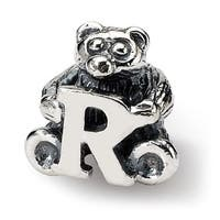 Sterling Silver Reflections Kids Letter R Bead (3.5mm Diameter Hole)