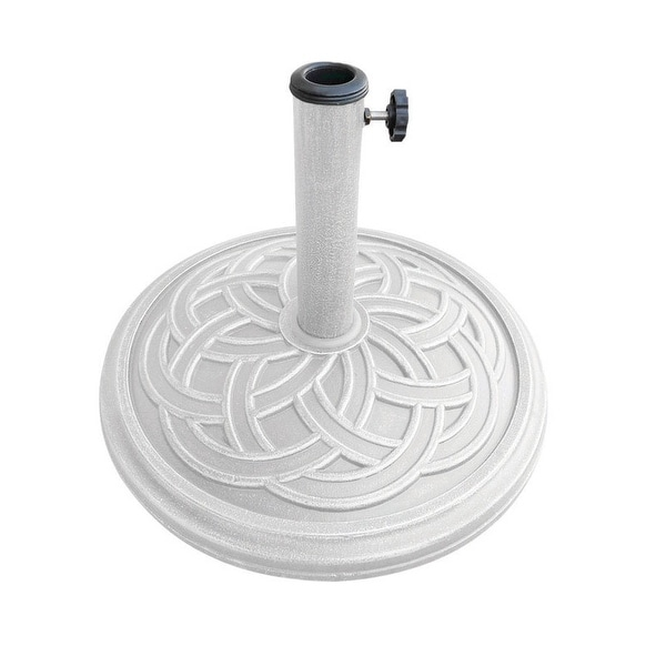 "Bond 60478A Round Umbrella Base, White, 17.71"" x 17.71"" x 12.8"""