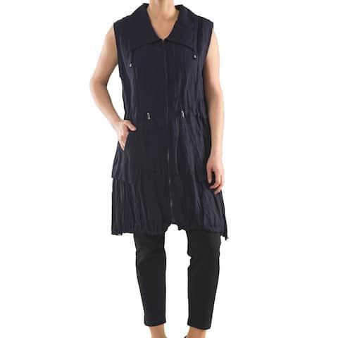 European Style Tunic Vest - Women's Plus Size Tops - Summer Tunic - La Mouette Collection