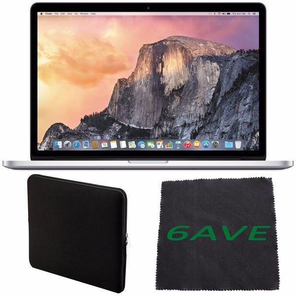 "Apple 15.4"" MacBook Pro Laptop Computer with Retina Display & Force Touch Trackpad #MJLQ2LL/A + Padded Case Bundle"