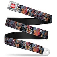 Marvel Universe Marvel Full Color Red White Spider Man & Black Cat Scene Seatbelt Belt