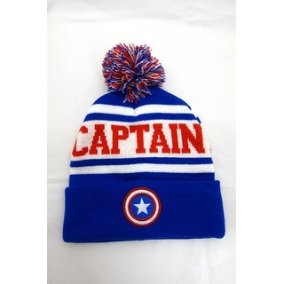 Marvel Men's Captain America Pom, Royal, One Size