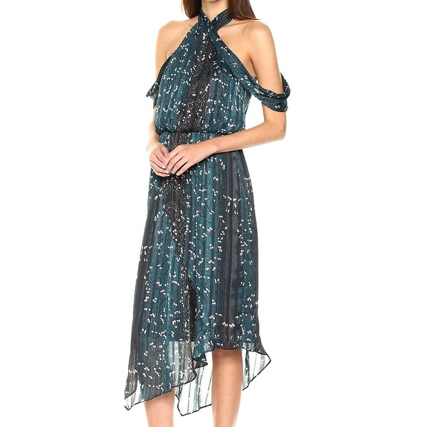 5d11f697a0b9 Shop Rachel Rachel Roy Green Womens Size 12 Cold Shoulder Maxi Dress - Free  Shipping Today - Overstock.com - 21420046