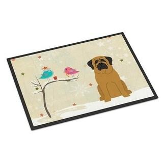 Carolines Treasures BB2490MAT Christmas Presents Between Friends Mastiff Indoor or Outdoor Mat 18 x 0.25 x 27 in.