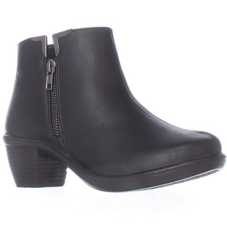 Easy Street Clear Ankle Booties - Black
