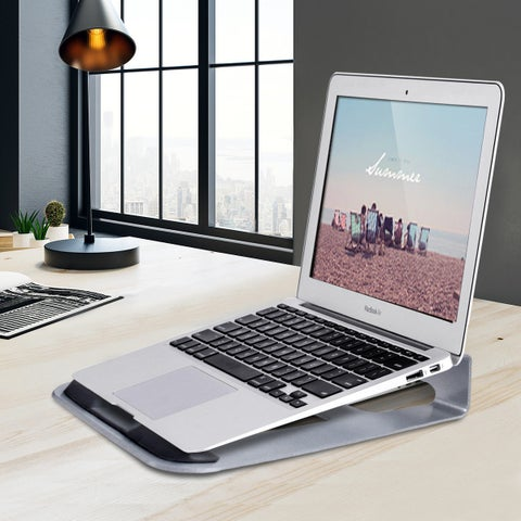 Gymax Lightweight Aluminum Laptop Stand Desk Holder 11''-15.5'' Notebook Macbook Laptop