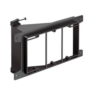 Arlington LVS3 Triple-Gang Screw-On Low Voltage Bracket for New Construction